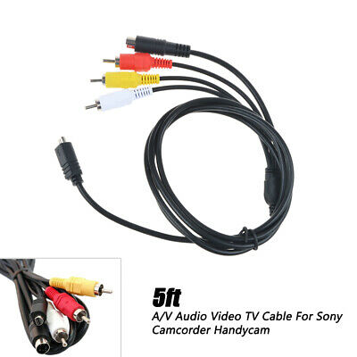 Taelectric AV A//V TV Video Audio Cable Cord Wire for Sony Camcorder Handycam HDR-SR8//e//v//e