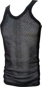 ec765dfea25d15 Image is loading STRING-VEST-MESH-FISHNET-COTTON-RASTA-TANK-TOP-