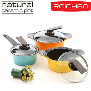 ROICHEN-Natural-Stone-Ceramic-Coating-Casserole-Pot-3-SET-18-20-24cm-type-B