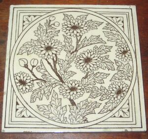 Hearty Minton Hollins Aesthetic Victorian Vintage Tile Relieving Rheumatism Tiles