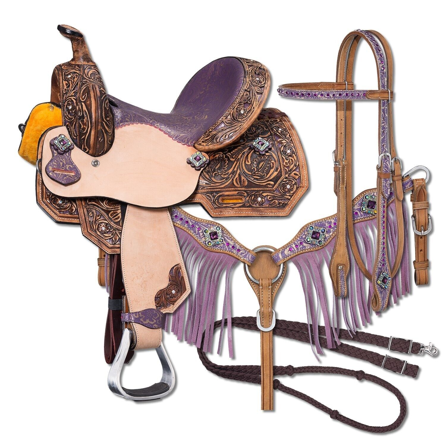 Youth Sweet Pea Western Saddle - 10  12  13  Saddle or Complete Package