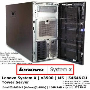 Lenovo-System-X-x3500-M5-5464NCU-Tower-Server-Xeon-E5-2620-v3-16-GB-RAM