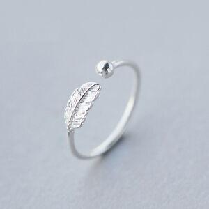 Damen-Ring-Feder-echt-Sterling-Silber-925-groessenverstellbar-bis-52-offen