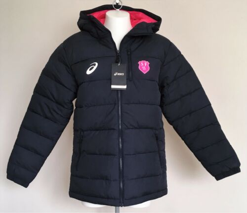 STADE FRANCAIS NAVY PADDED WINTER JACKET BY ASICS SIZE ADULTS SMALL BRAND NEW