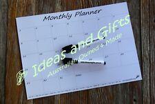 A4 Monthly Fridge Calendar Magnetic Whiteboard Family Organiser Memo Planner +2p