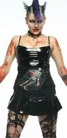 Lip Service From The Cradle To The Grave Black Waist Cincher Corset Gothic M