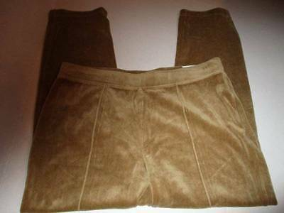 New Chico's Size 3 Pant (XL) Camel Velour Warmer Weight New W/Tags