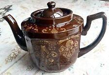 Rare & Unusual Antique Heavy Victorian Glazed Clay Teapot in Exellent Condition