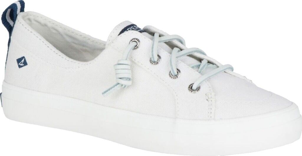 Sperry Top-Sider Crest Vibe Sneaker (Women's Shoes) in White Linen Canvas - NEW