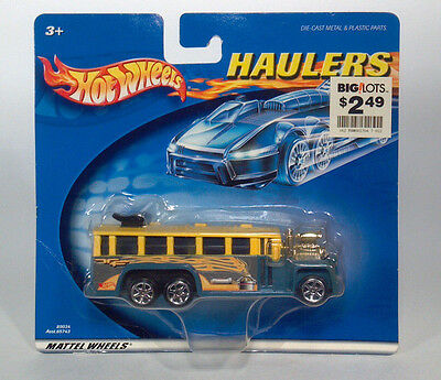 IC Rare Yellow/Blue Hot Wheels Haulers Dragster GMC School Bus Scale Model