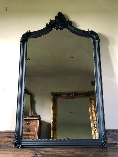 Wood Framed Full Length Wall Or Leaner
