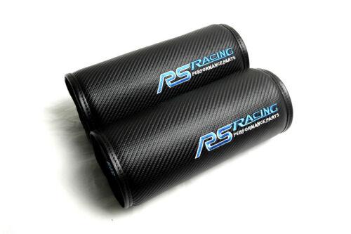 2Pcs Blue RS Racing Round Car Neck Rest Pillow Auto Seat Rest Cushion Headrest