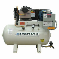 Powerex Sts 3-hp 30-gallon High Pressure Oil-less Open Scroll Air Compressor ...