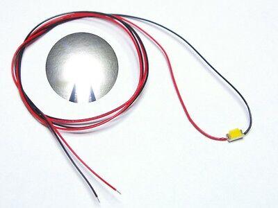 S975 - 10 Stück SMD LEDs 1206 weiß mit Kabel Microlitze fertig angelötet