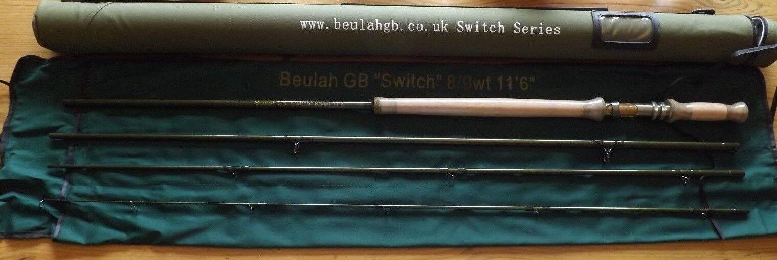 Beulah GB Interruptor 8 9wt 11' 6  4 piezas de Cochebono Caña Con Mosca