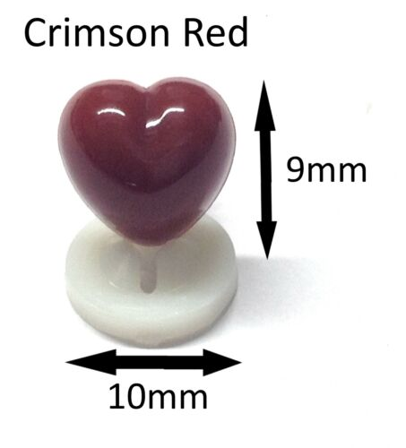Cute Animal Safety Nose for Soft Toys /& Teddy Bears CRIMSON RED HEART NOSES