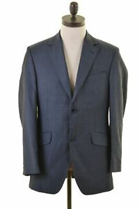 Austin Reed Mens 2 Button Blazer Jacket Size 38 Medium Black Wool In08 Ebay