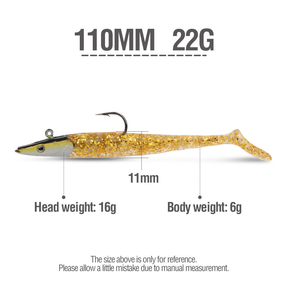 Fishing Barbed Collar 2g 4g Lead Head Jig Hook with T Lure Bait E9U9