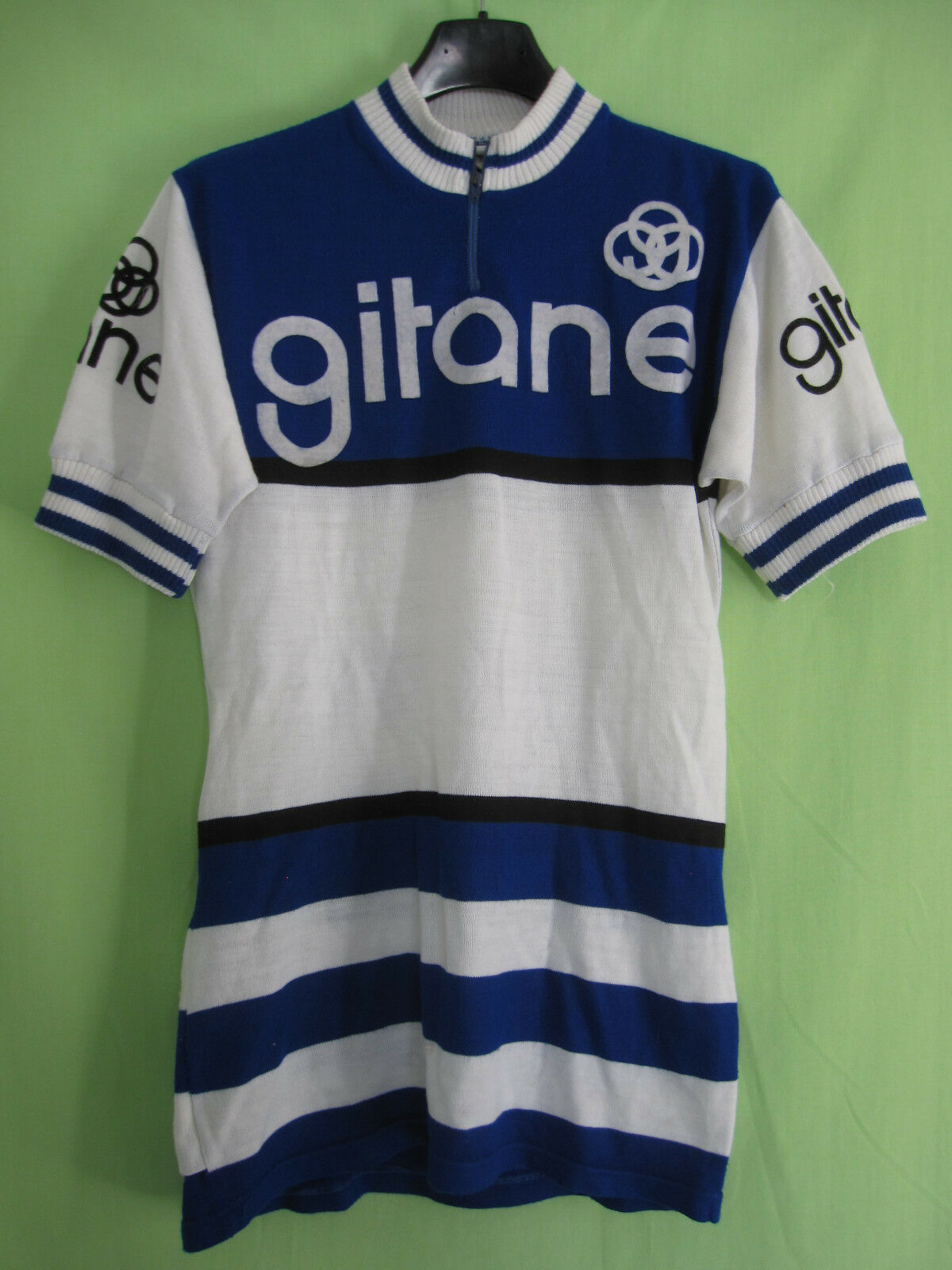 Maillot Cycliste vintage GITANE Cycles Acrylique Laine 70'S jersey Tricodor - M