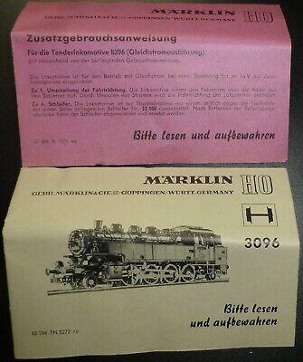 3096 8396 Istruzioni Märklin 68 396 Tn 0272 Ru å-mostra Il Titolo Originale Rafforzare La Vita E I Sinews