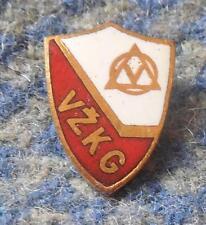 TJ VZKG VITKOVICE ICE HOCKEY CZECHOSLOVAKIA 1960's RED ENAMEL PIN BADGE
