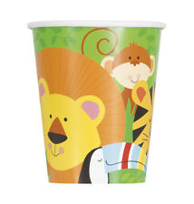 ANIMAL JUNGLE 9oz PAPER CUPS (8) ~ Birthday Party Supplies Beverage Drinking