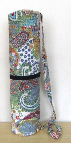 Handmade Kantha Stitch Yoga Bag Indian Gym Mat Carrier Bags With Shoulder Strap