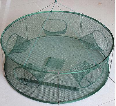 High Quality Portable Foldable Fishing Trap Cast Net Crab Fish Minnow 80X26cm
