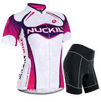 Pro Team Women Cycling Clothing Suit Short Sleeve Bicycle Jersey Bike Shorts Set