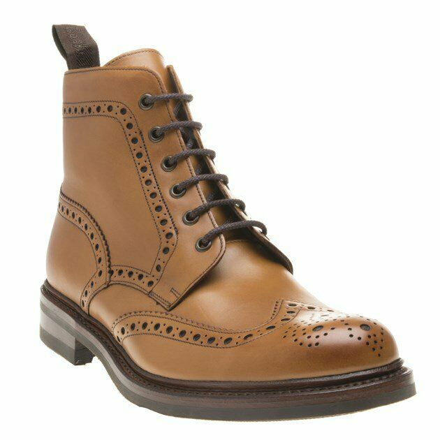 New Mens Loake Tan Bedale Leather Boots