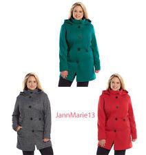 a3b7a1d52fd Plus Size Apt 9 Hooded Jacket Coat Fleece Red Teal Black Pepper 1X 2X -NEW!  Plus Size Apt 9 Hooded Jacket Coat Fleece Red Teal Black Pepper 1X 2X