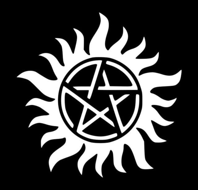 Supernatural Anti Possession Symbol Sam Dean Vinyl Decal Sticker Car