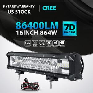 Image Is Loading Tri Row 16 034 Inch 864W CREE LED
