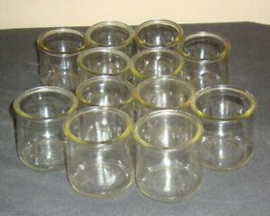 Oui Lot of 4 French yogurt Glass pots Jars for Crafts  4 full sized jars