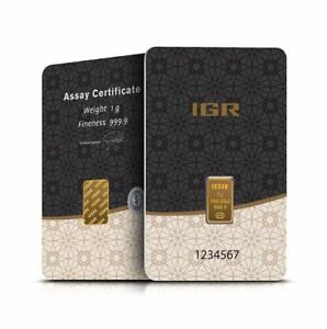 1 Gramm Goldbarren IGR Gold 999,9 im Blister - 5 Euro Rabatt ab 3 Stück