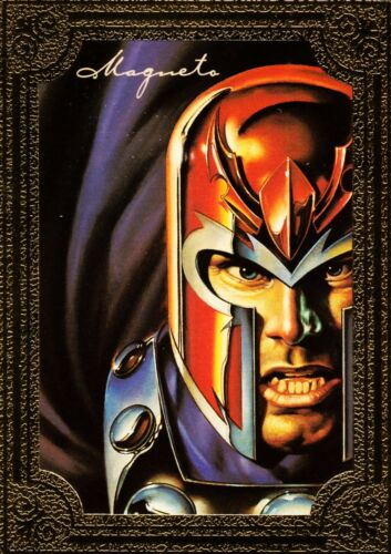 1996 Marvel Masterpieces GOLD GALLERY #3 of 6 Magneto NM Very Rare!