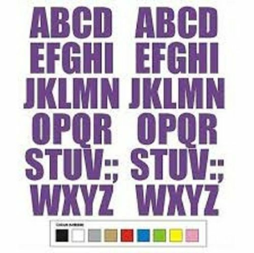 """2 Self Adhesive Weatherproof house door numbers Vinyl Stickers yellow numbers 4/"""""""