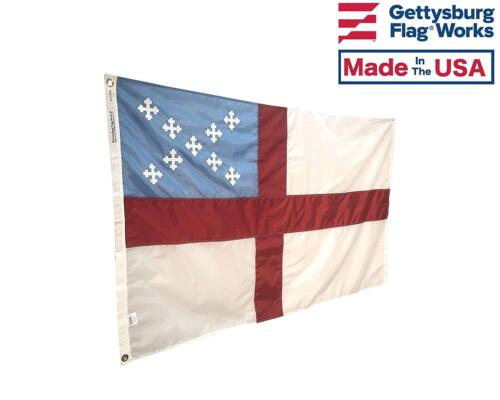 Made in USA Sewn Embroidered Durable All Weather Nylon Outdoor Episcopal Flag