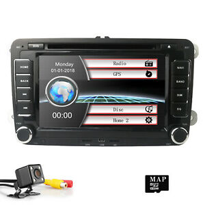 autoradio gps navi mit bluetooth dvd ips 2din for vw polo golf 5 7 touran tiguan ebay. Black Bedroom Furniture Sets. Home Design Ideas