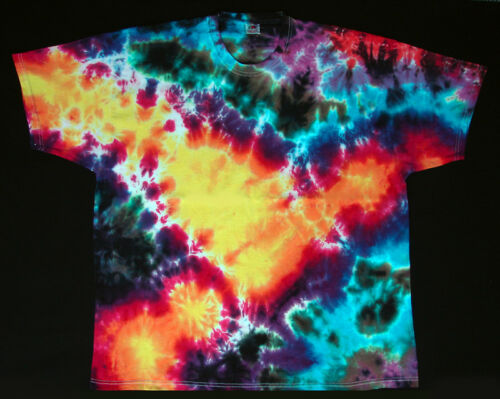 Handgefärbt s shirt Kurzarm Flower Batik Tie Neu Hippie Gr Dye Goa 5xl T Power dHwqCxXEw