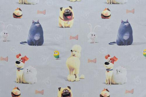 Curtain /& Cushions 100/% Cotton The Secret Life of Pets Fabric