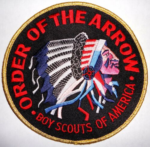 """Order of the Arrow Gold//Black 6/"""" OA Jacket Patch Boy Scouts of America"""