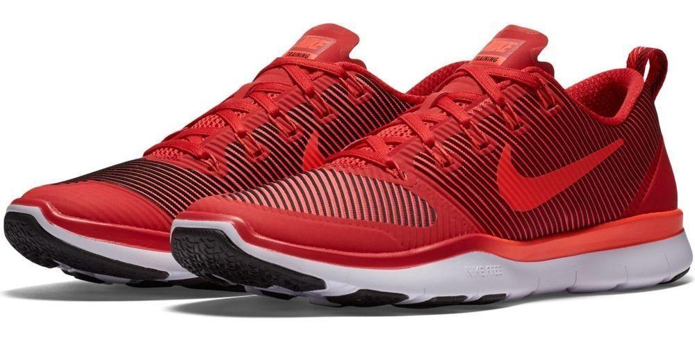 Mens Nike Free Run Versatility Running Sneakers Red   Crimson 833258-806 NEW