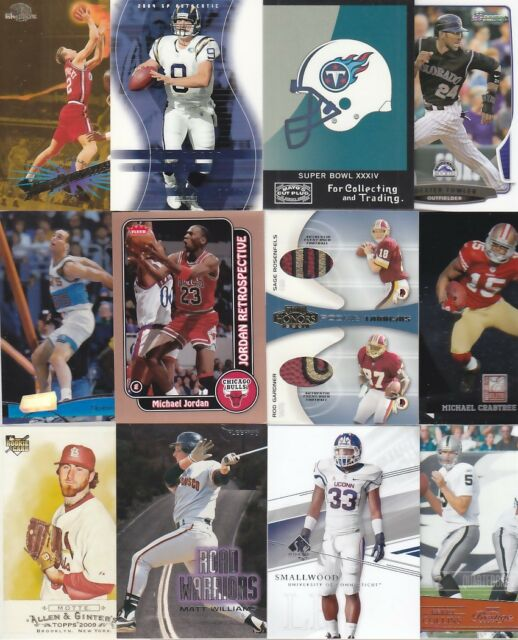 HUGE SPORTS CARD LOT COLLECTION ROOKIE GAME USED AUTO 1/1 GRADED PATCH INSERT