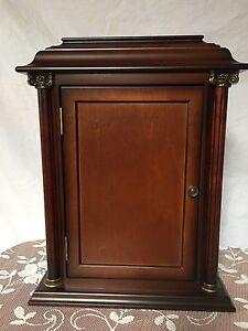 Vintage bombay company mahogany wooden key cabinet hook for Bombay mahogany kitchen cabinets
