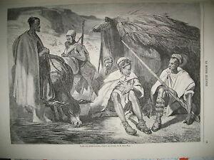 TRIBUS-KABYLES-EMPEREUR-ET-IMPERATRICE-AUTRICHE-PONT-SAINT-MICHEL-GRAVURES-1857