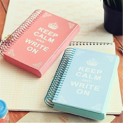 """Keep Calm"" 1pc Journal Diary Notebook Blank Pocket Planner Colored Sketchbook"