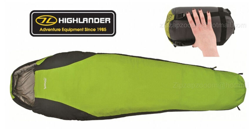 Highlander Travel Pac-Tec Mummy Compact Light Travel  Camping Sleeping Bag SALE