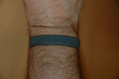 WHO IS JOHN GALT? WRISTBAND Size Adult Large New In Package - Free Shipping