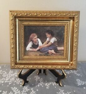 Vintage Art The Nut Gatherers William Adolphe Bouguereau Gold Art